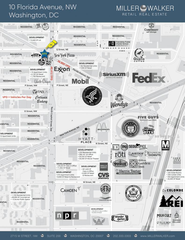 10 Florida Avenue Retail Map