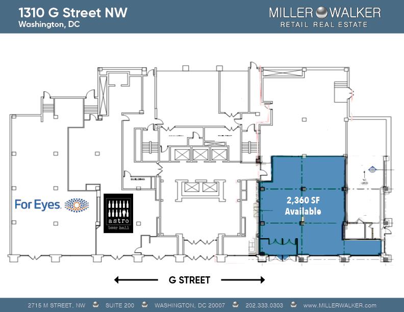 1310 g street nw washington dc 20005 floor plan available lease