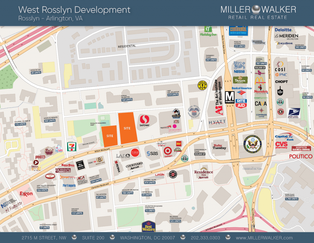 West Rosslyn Retail Map
