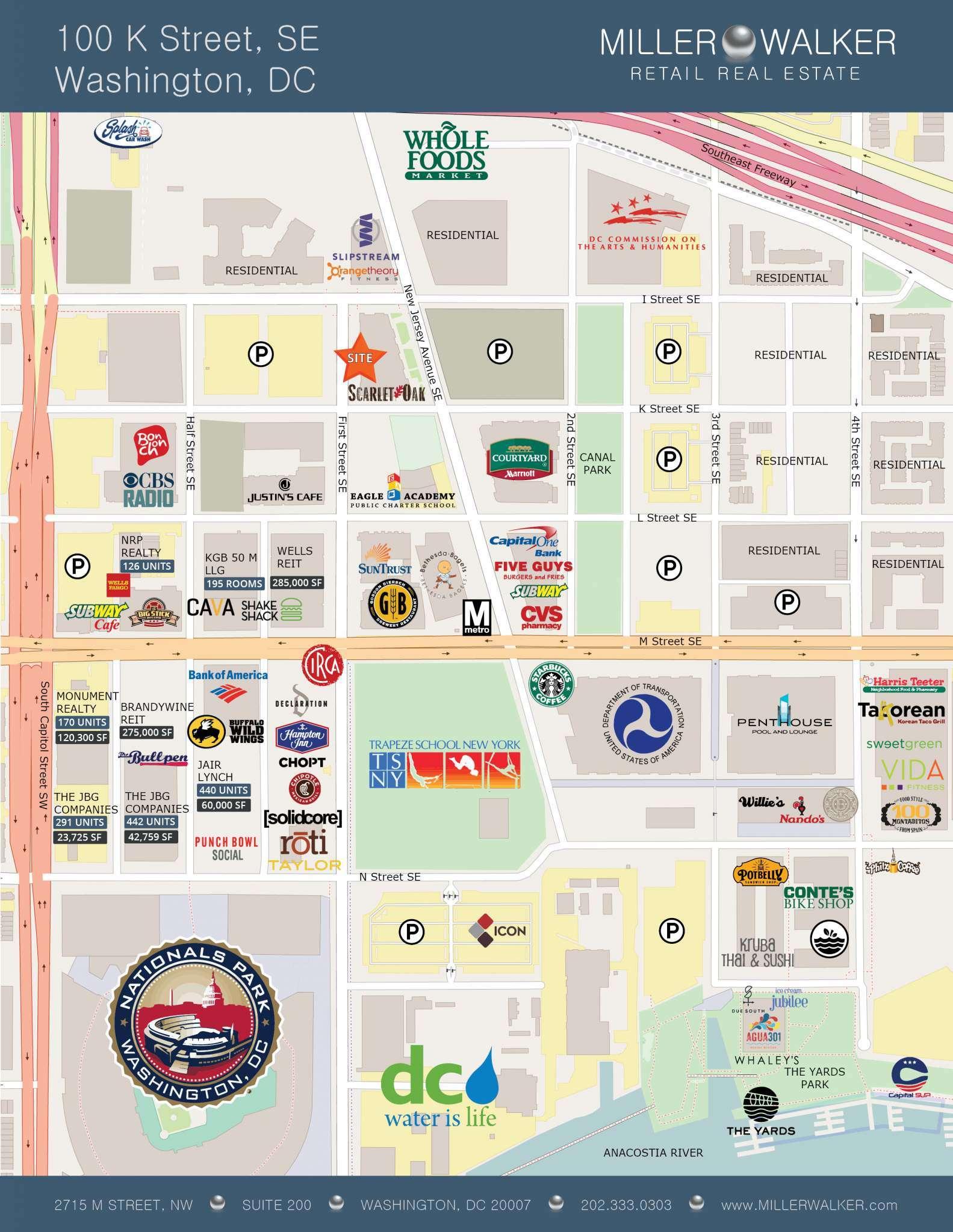 100-k-street-map