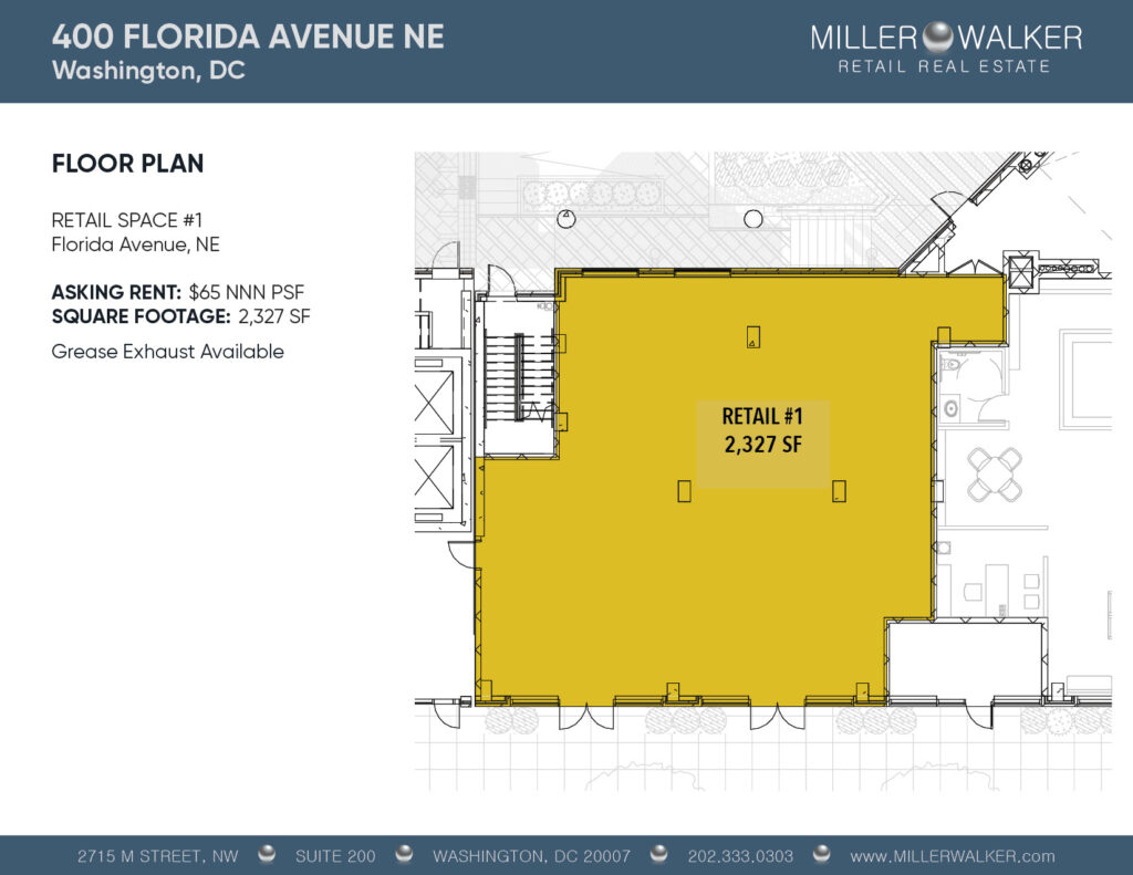 floor plan design retail store in Union market washington dc