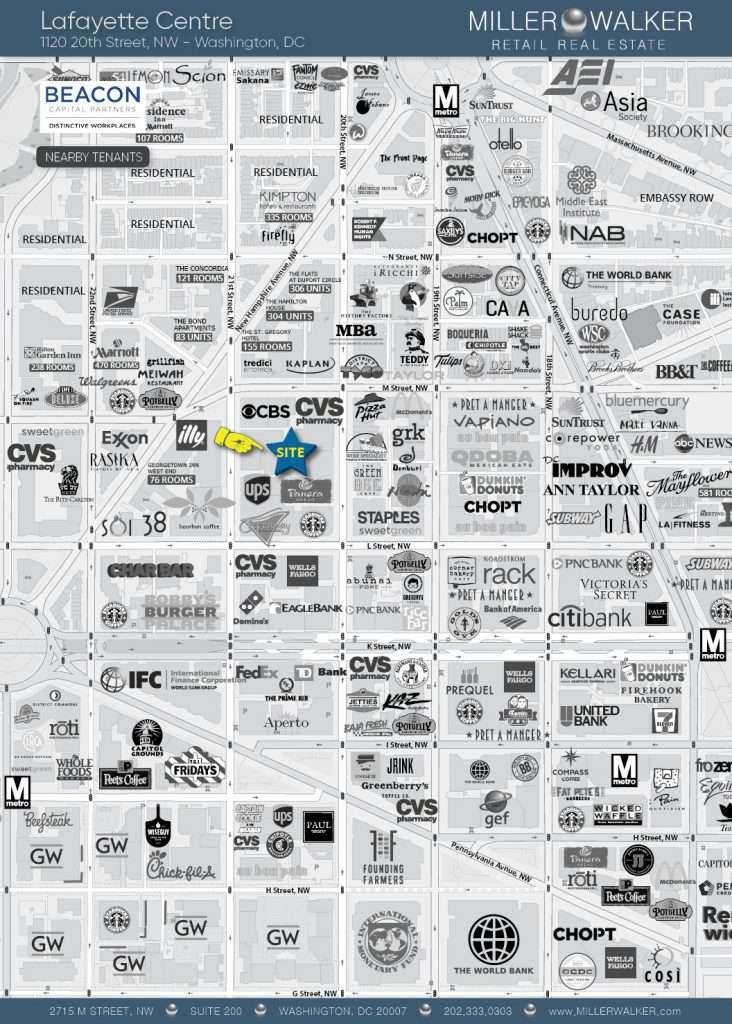 Lafayette Centre - Retail Map