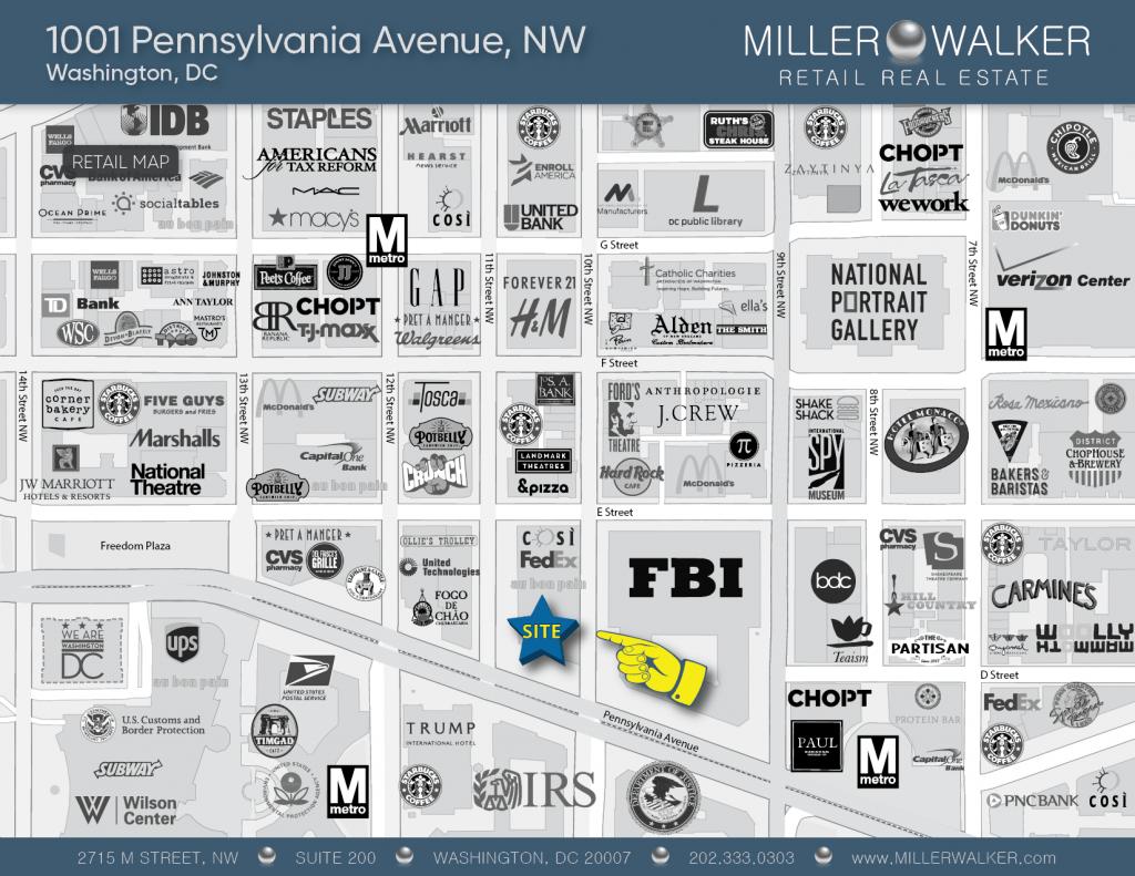 1001 Penn Ave Retail Map