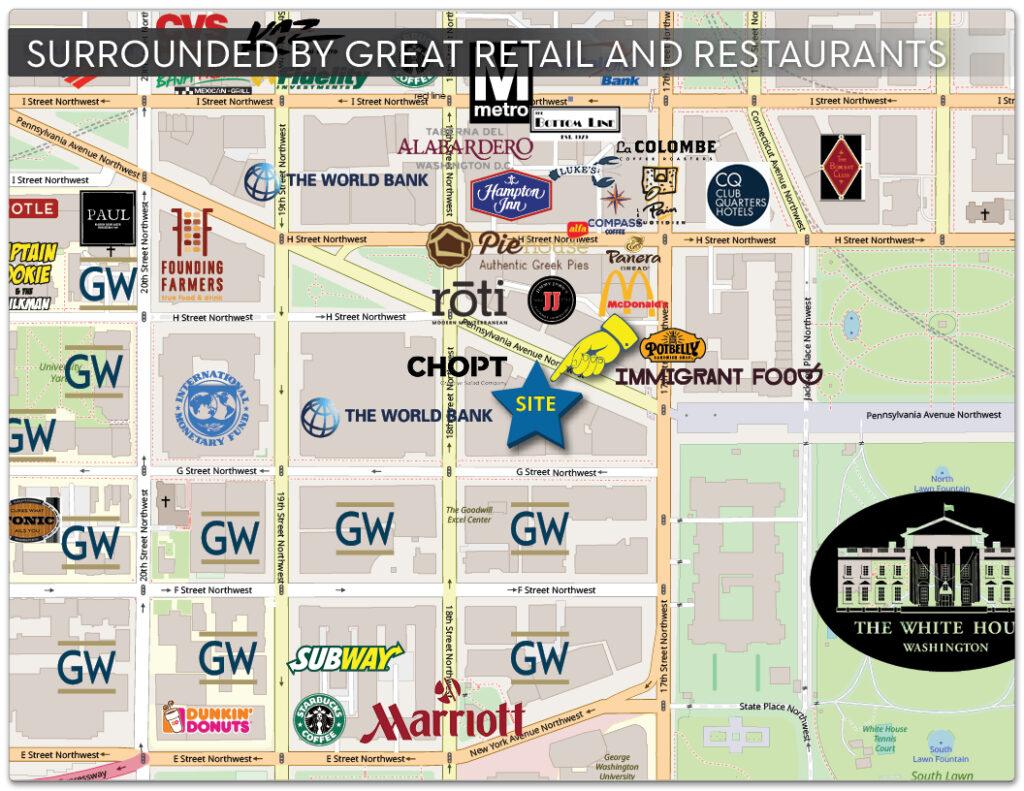 1750 pennsylvania ave nw retail map area retail