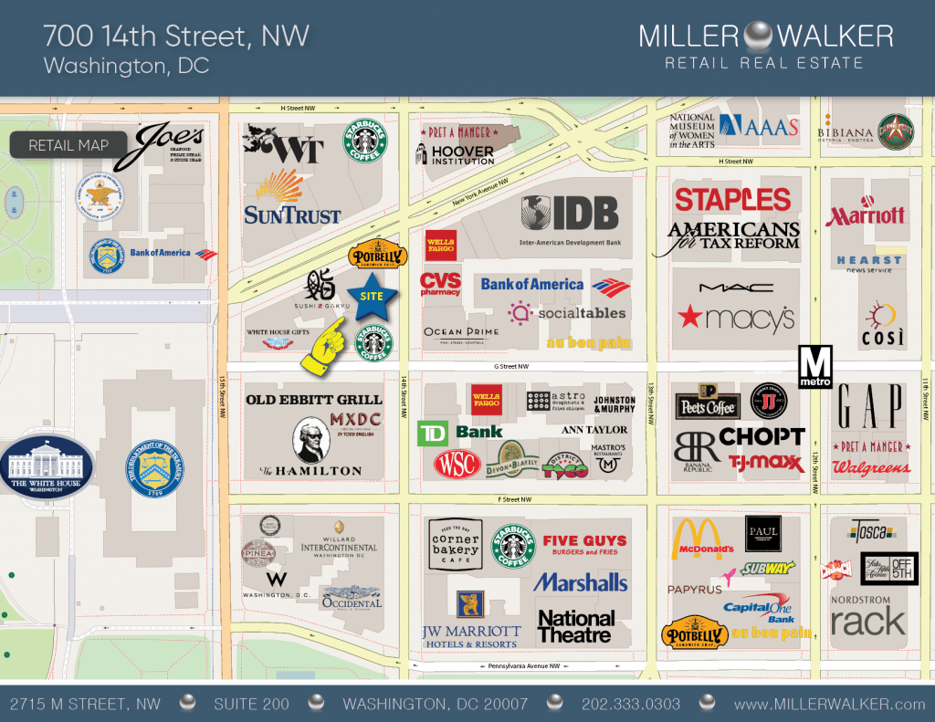 700 14th street RETAIL MAP