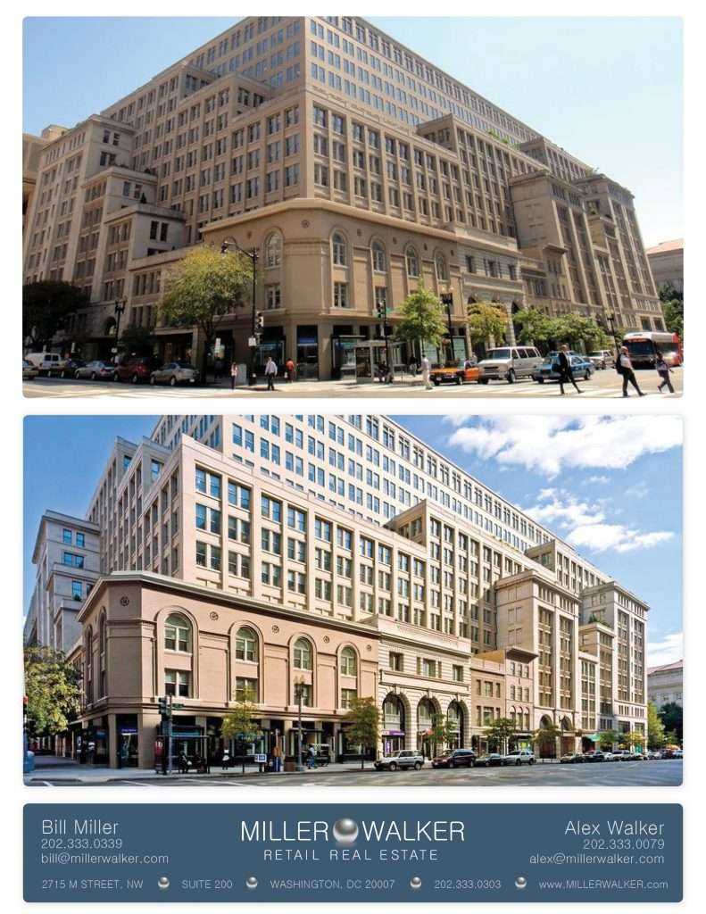 Retail Space for Lease DC - Tadich Grill, White Apron, Taylor Gourmet, - 1001 Pennsylvania Avenue, Washington DC