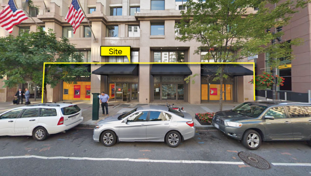 1310 G Street NW East End Photo of storefront of retail space property for lease