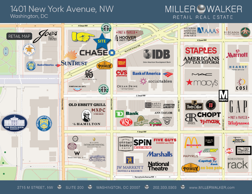 1401 New York Avenue Retail and fitness space for lease retail map