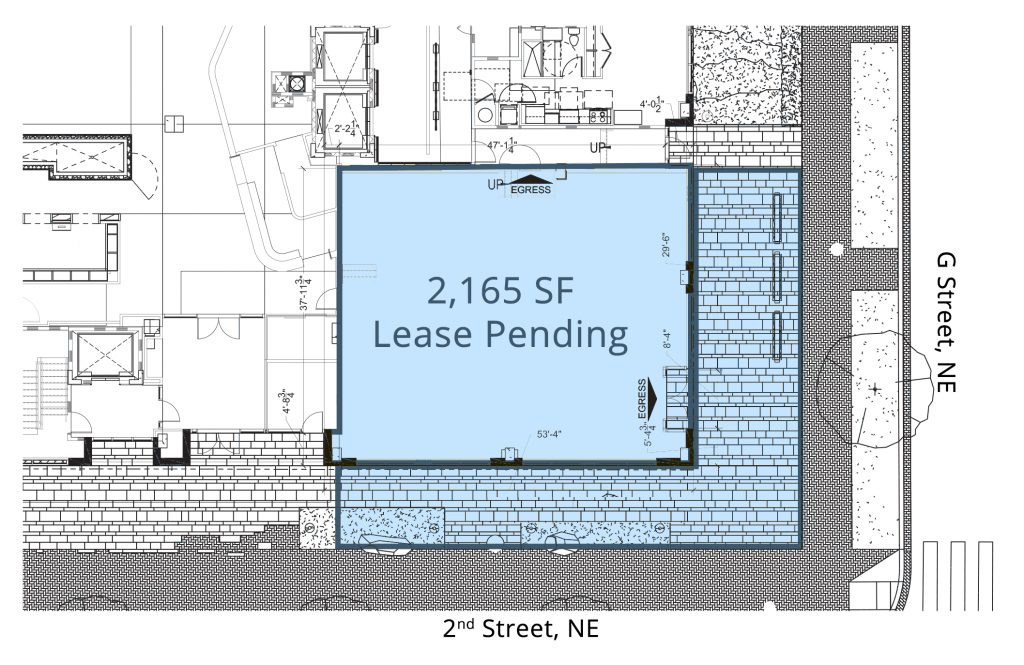 Floor Plans Retail Space for Lease DC - Station House 701 2nd street, NE restaurant space for lease - H Street corridor Retail brokers dc streetsense