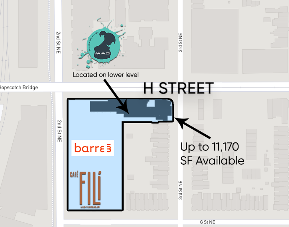 Floor Plans Retail Space for Lease DC - Station House 701 2nd street, NE restaurant space for lease - H Street corridor Retail brokers dc