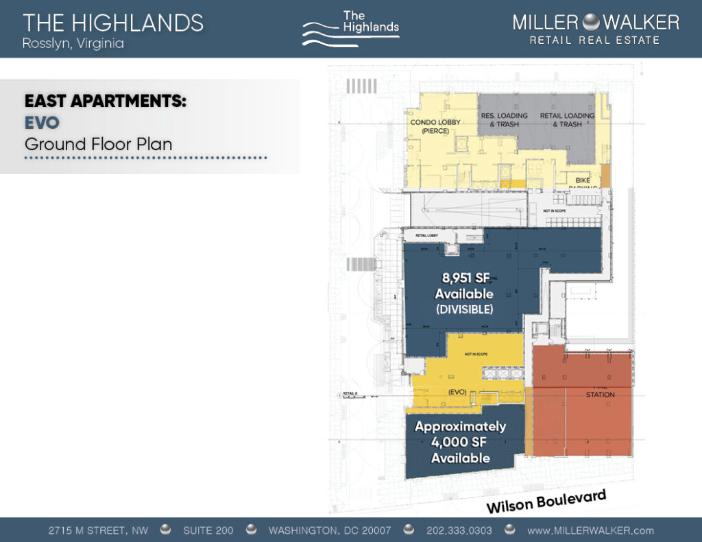 the highlands rosslyn va floor plans for retail stores