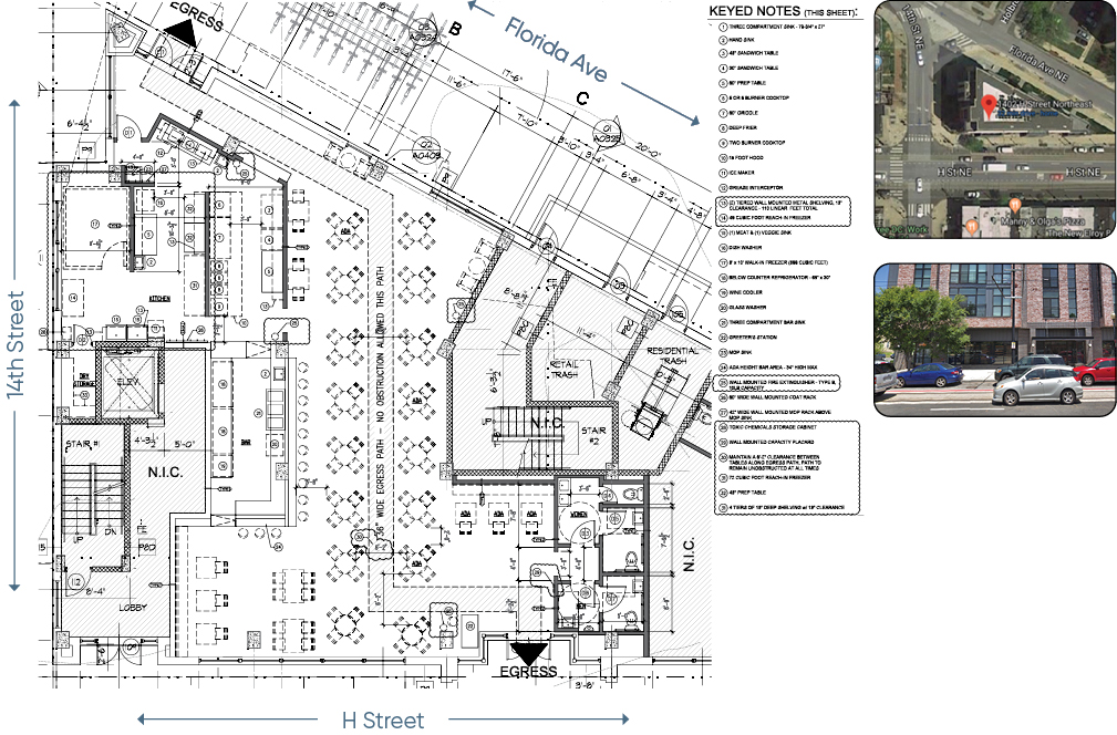1402 H Street floor plans and square footage of usable space for lease