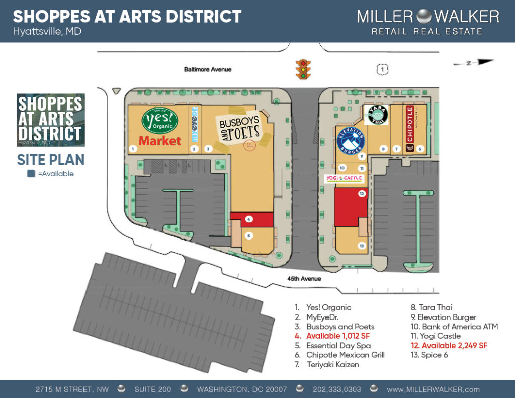 site plan retail space for lease in hyattsville maryland