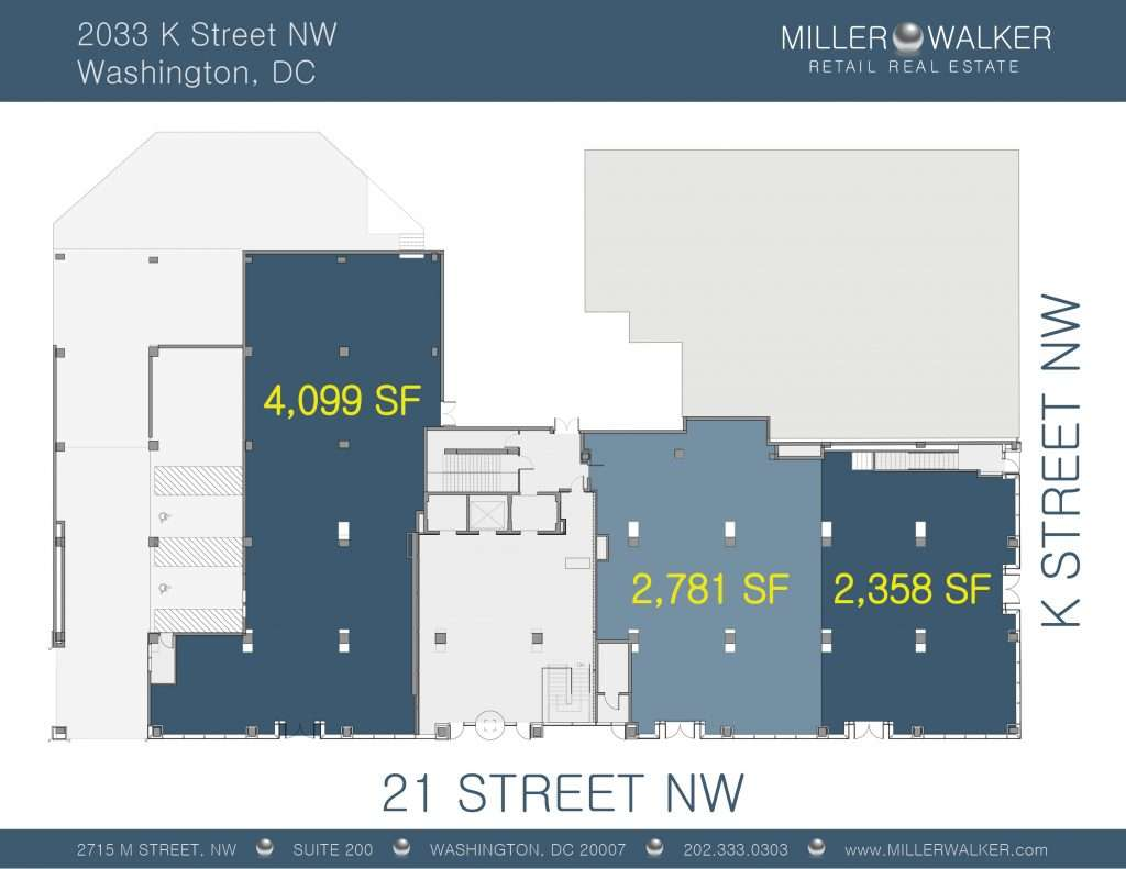 2033 k street retail space available for lease
