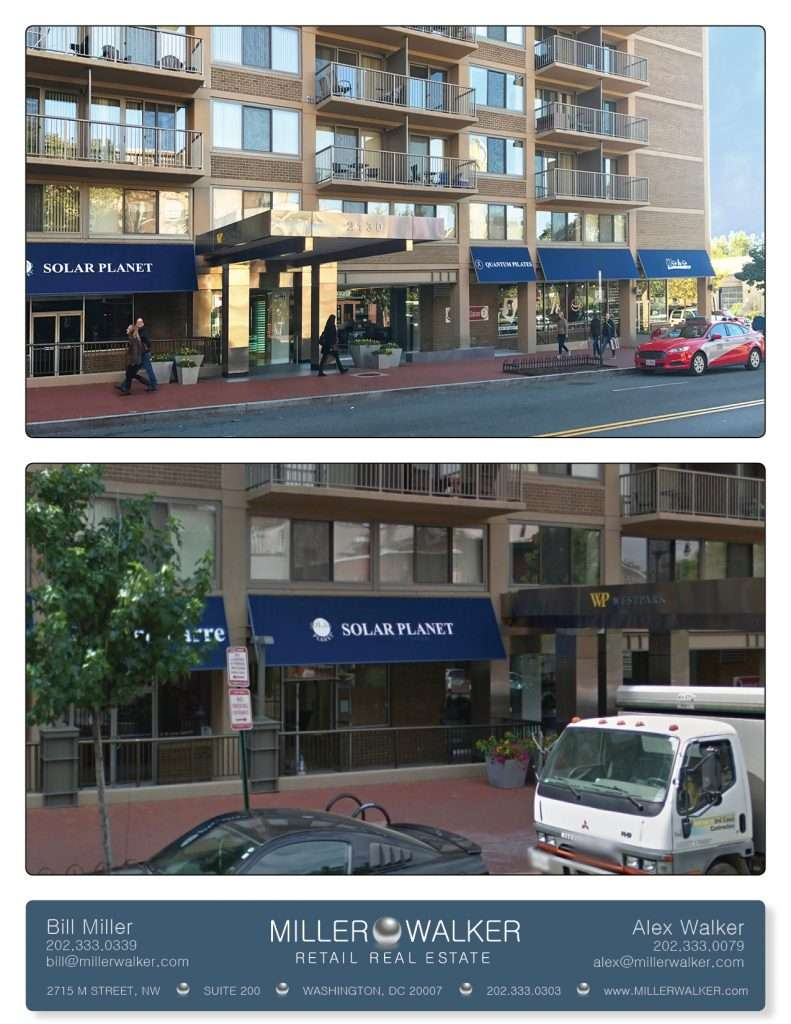 Restaurant and Retail Space for Lease DC - 2130 P Street - Dupont Circle restaurant space for lease photo sheet