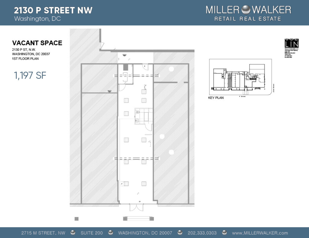 Restaurant and Retail Space for Lease DC - 2130 P Street - Dupont Circle restaurant space for lease floor plan 3