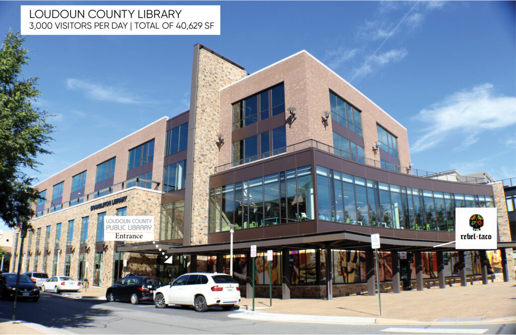 Brambleton Town Center virginia loudoun countyLibrary space space Photo of storefront of retail space property for lease