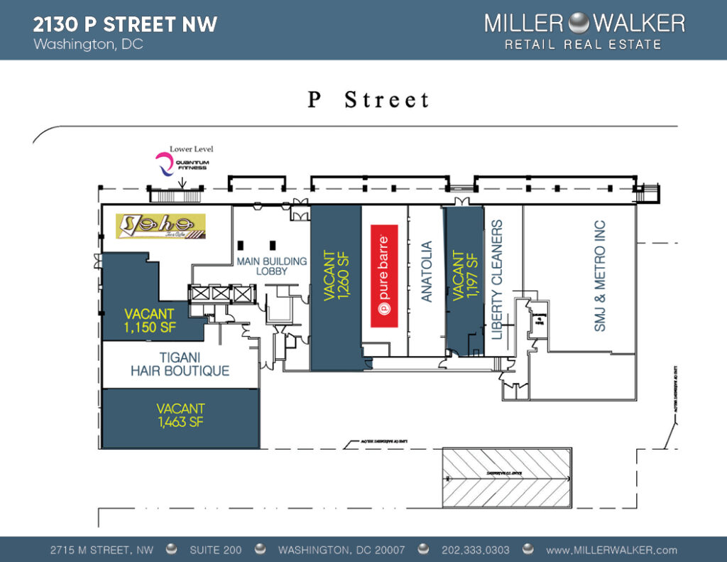 Restaurant and Retail Space for Lease DC - 2130 P Street - Dupont Circle restaurant space for lease Plan Updated Soho