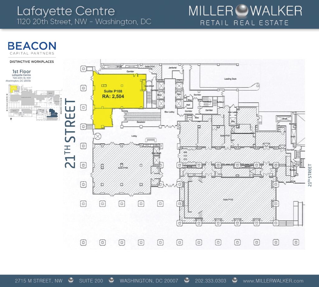 Retail Space for Lease DC - Lafayette Centre: 10020 20th Street NW - CBD/MIDTOWN restaurant space for lease Retail brokers DC Lafayette Centre - Floor Plans3