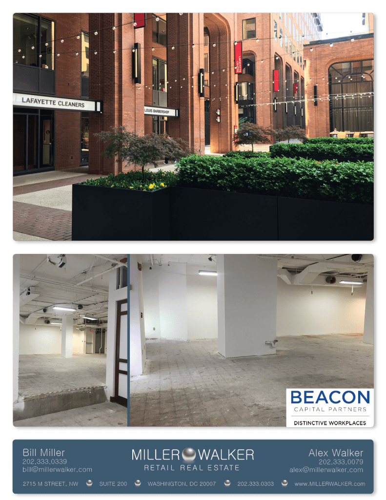 Retail Space for Lease DC - Lafayette Centre: 10020 20th Street NW - CBD/MIDTOWN restaurant space for lease Retail brokers DC Lafayette Centre - Photos3