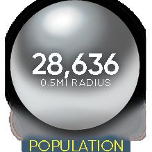 1209 u street retail space for leasing population density