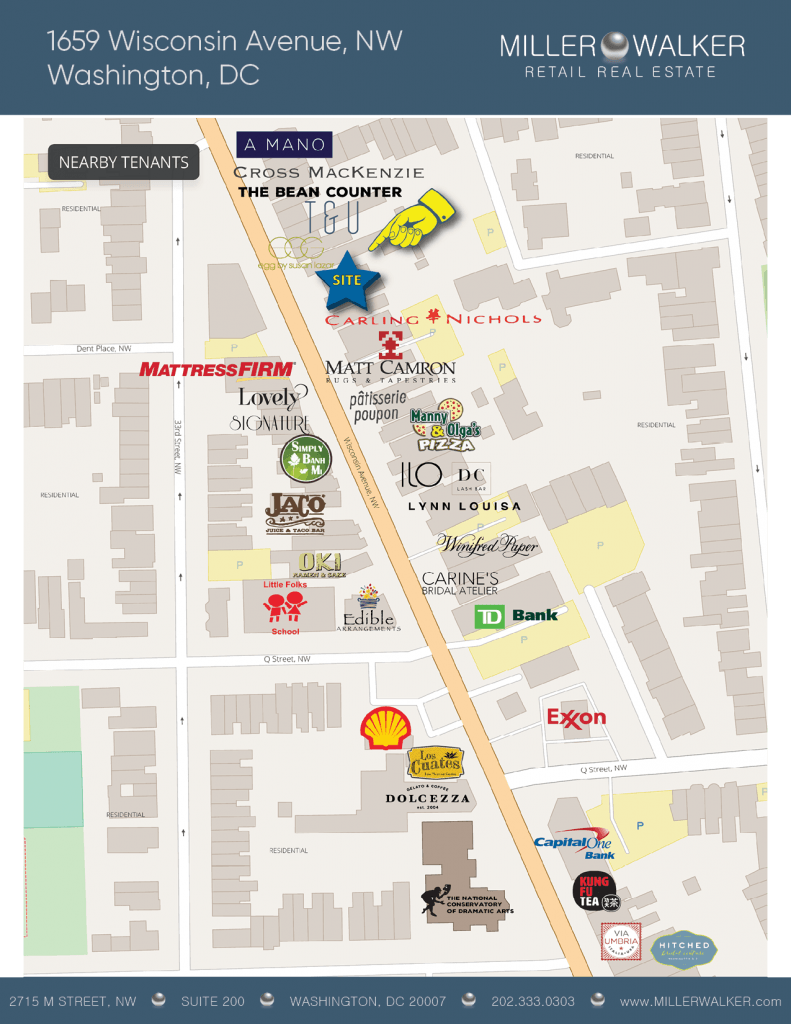 1659 Wisconsin Avenue retail map
