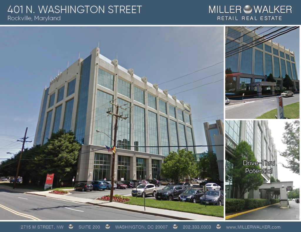401 N Washington Photo of storefront of retail space property for lease