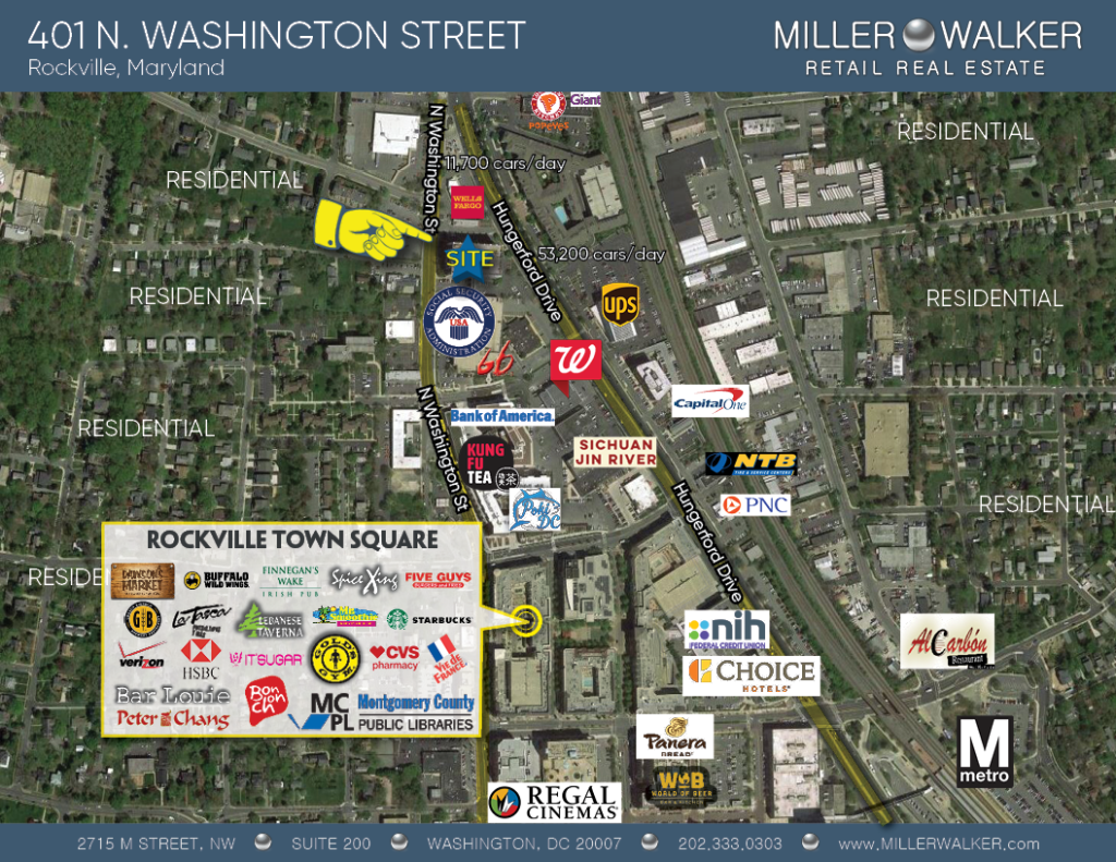 401 N Washington Street Rockville Maryland restaurant space and retail for lease property area Retail Map