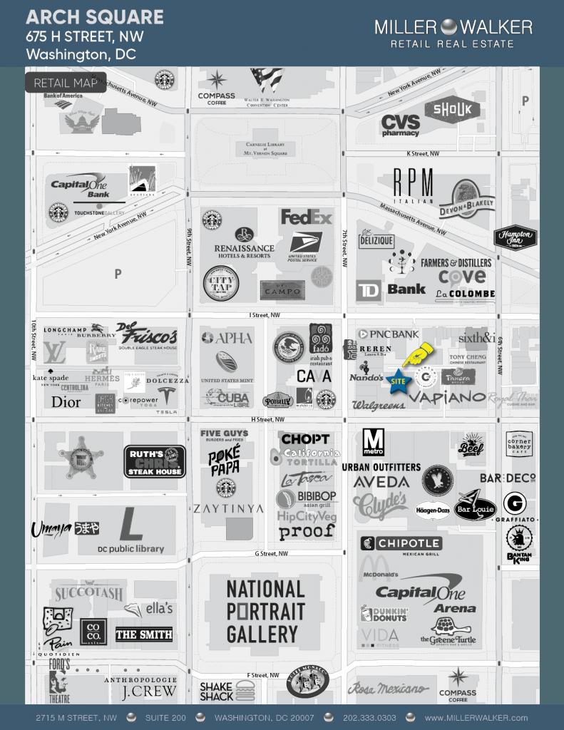 675 H Street Retail Map