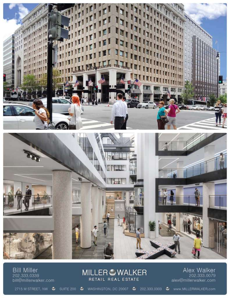 National Press Building Washington DC retail space for lease interior and exterior pictures