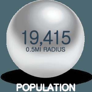 half mile population density 675 H St NW