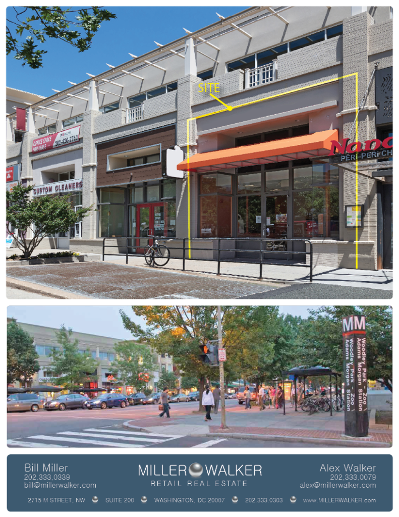 2631 Connecticut avenue fast casual restaurant space for lease photo in Woodley row dc