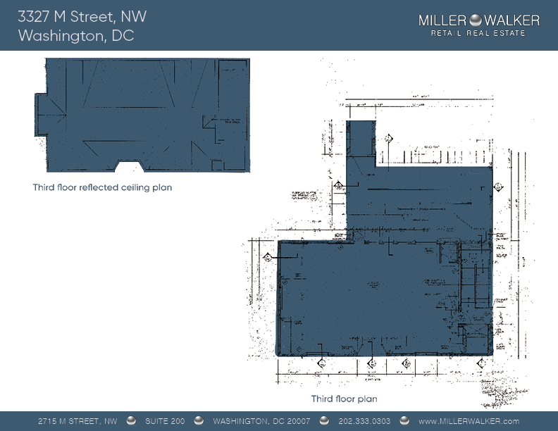 Office Space for Lease DC - Georgetown, DC Storefront - 3327 M Street, NW Washington DC floor plan