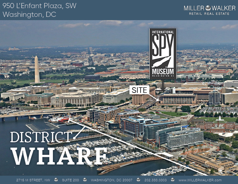 Nearby retail to 950 L'Enfant Plaza SW New International Spy Museum retail space for lease