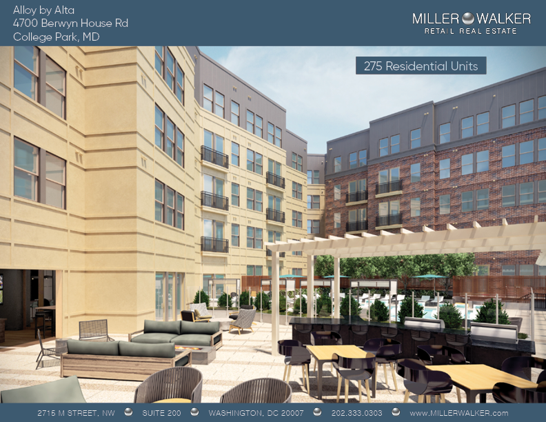4700 Berwyn House rd college park alloy by alta retail space for lease main pic dc broker maryland retail broker