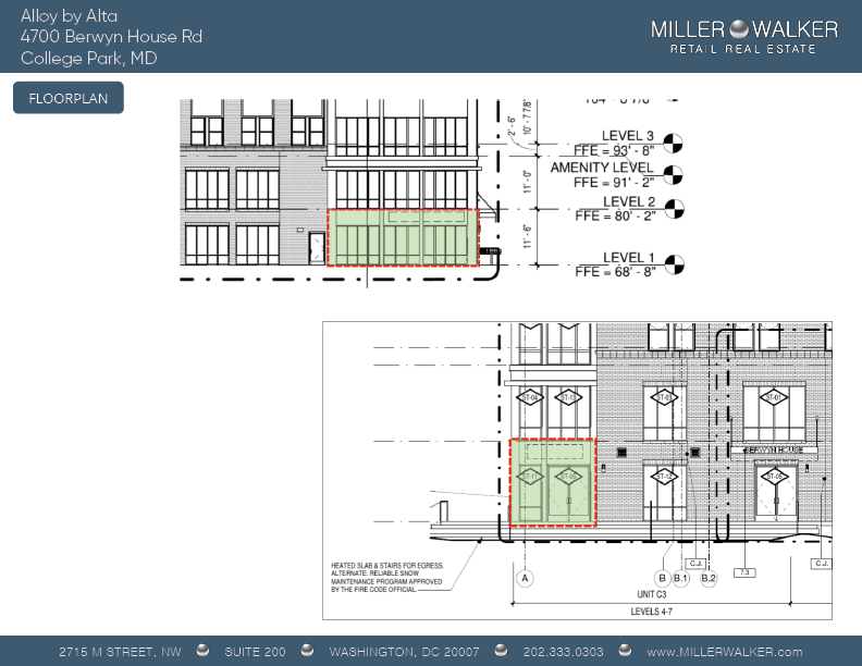 4700 Berwyn House rd college park alloy by alta retail space for lease main pic dc broker maryland retail broker floor plan