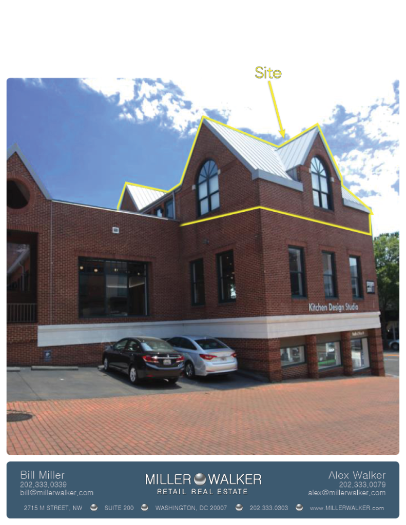 Office Space for Lease DC - Georgetown, DC Storefront - 3327 M Street, NW Washington DC Photo sheet 2
