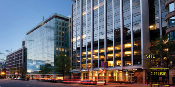 1750 PENNSYLVANIA AVENUE storefront for lease