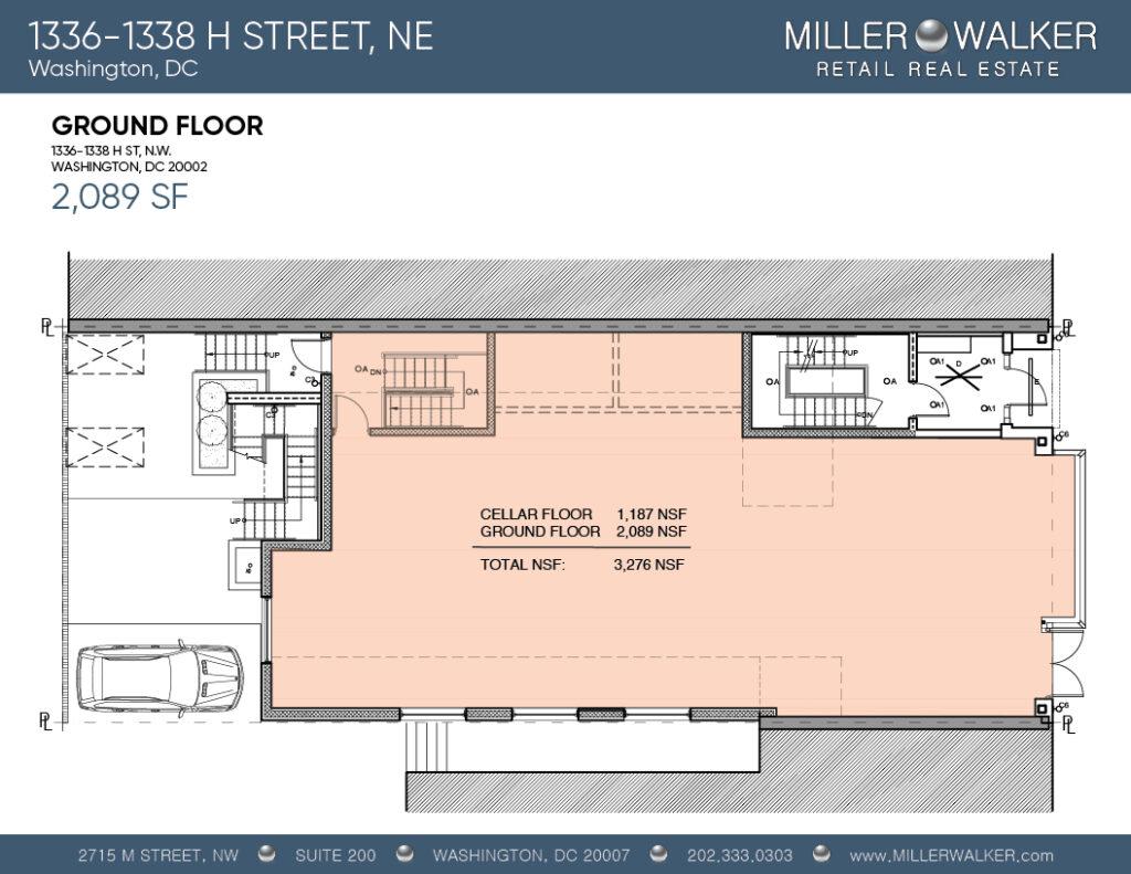 1336-1338 h street, ne retail ground floor plans