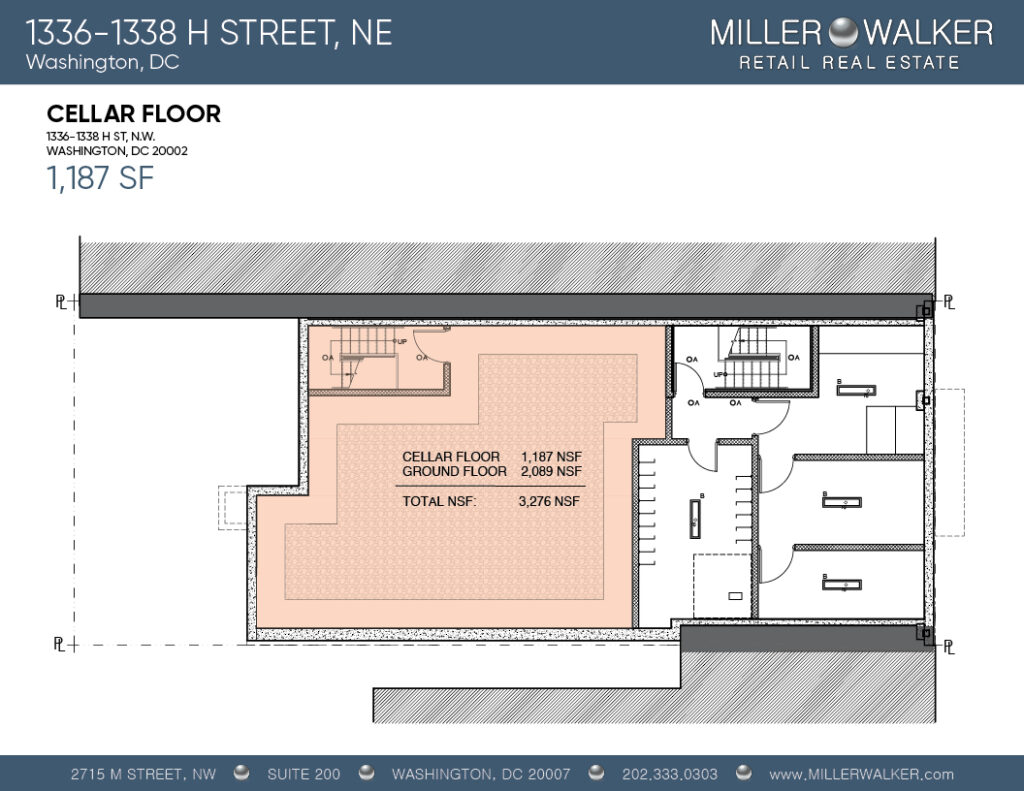 1336-1338 h street, ne retail floor plans