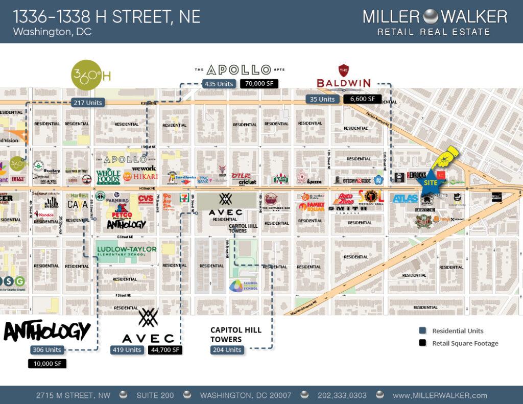 stores near 1336-1338 h street corridor
