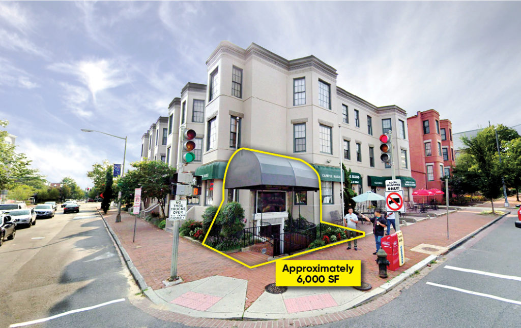 201 Massachusetts avenue restaurant space for lease store front in capitol hill washington dc