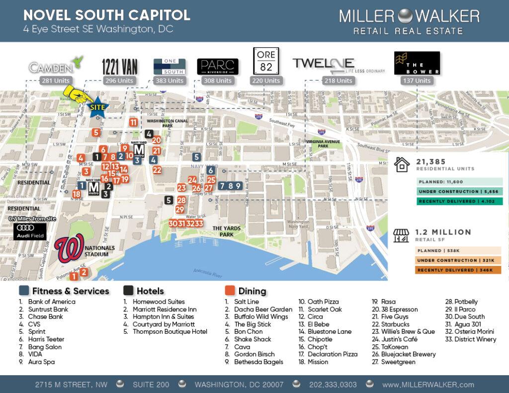 retail map of novel 4 eye st capitol riverfront dc