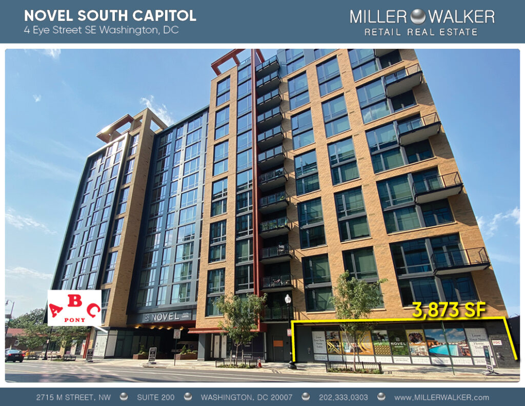 storefront of novel 4 eye st capitol riverfront dc